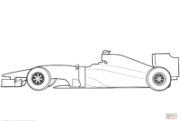 Blank Formula 1 Race Car Coloring Page | Free Printable inside Blank Race Car Templates