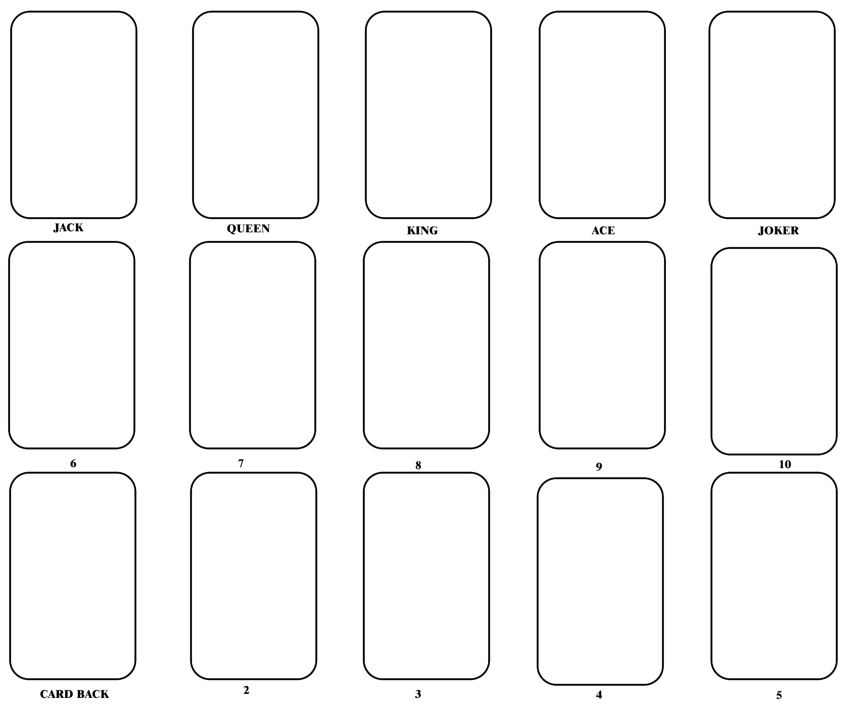 Blank Playing Card Template | One Day | Blank Playing Cards Within Playing Card Template Word