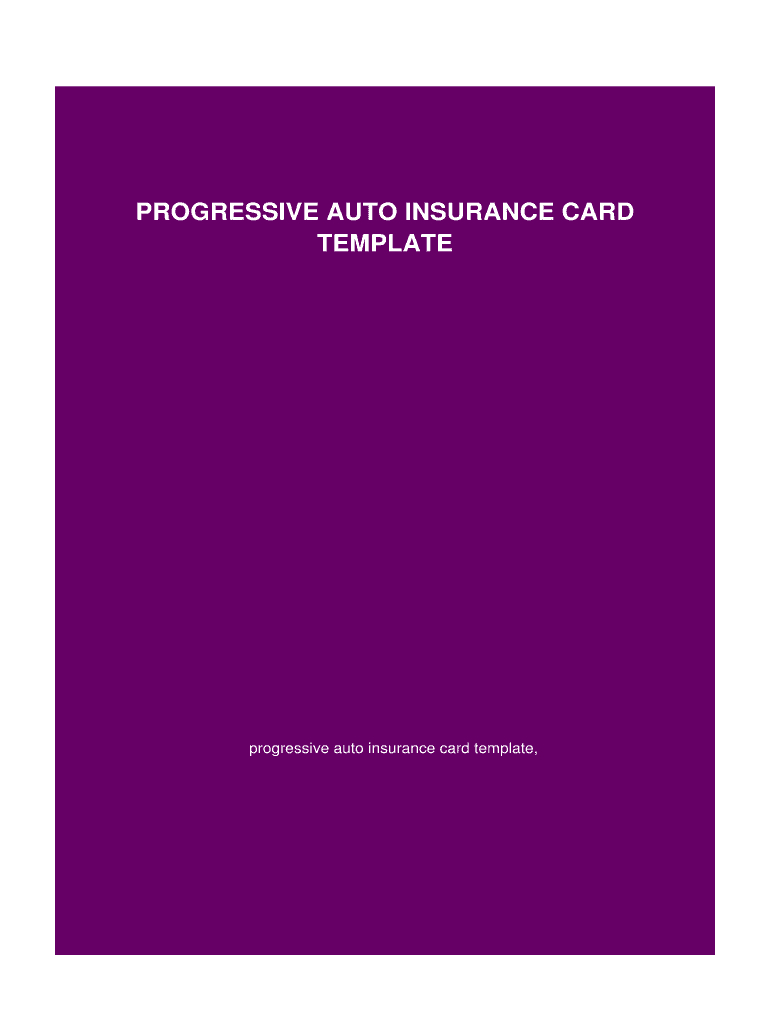 Blank Progressive Insurance Card – Fill Online, Printable With Free Fake Auto Insurance Card Template