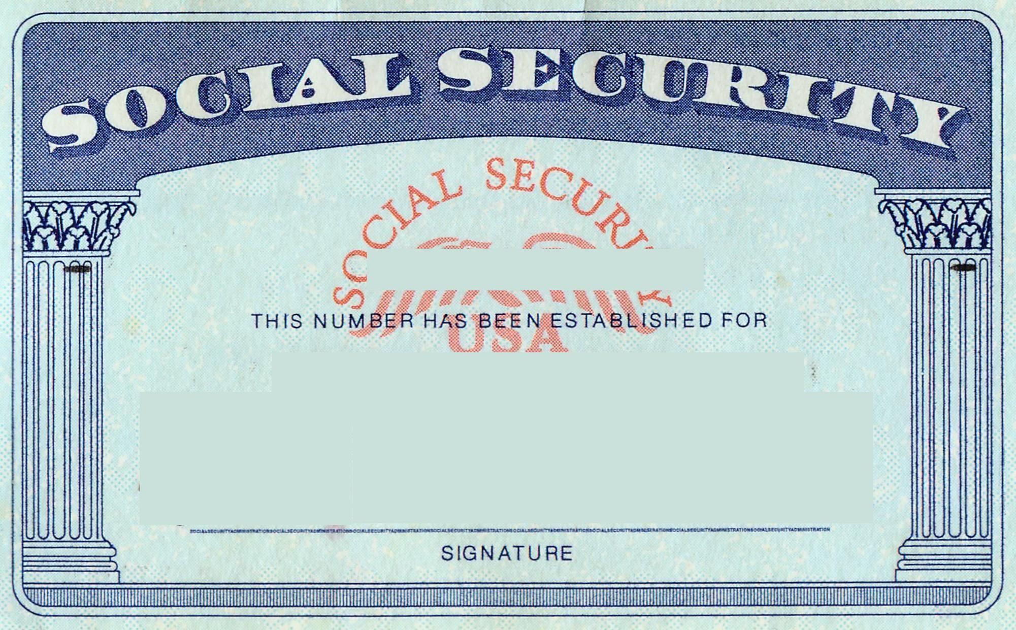 Blank Social Security Card Template | Social Security Card Inside Social Security Card Template Free