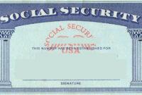 Blank Social Security Card Template | Social Security Card with regard to Social Security Card Template Photoshop
