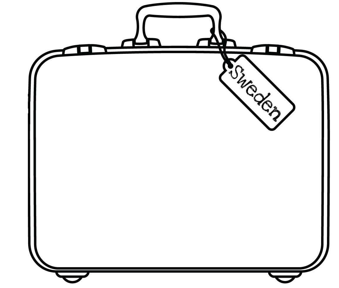 Blank Suitcase Template - Atlantaauctionco With Regard To Blank Suitcase Template