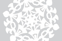 Blank Template To Draw A Pattern For Paper Snowflake | Free with Blank Snowflake Template