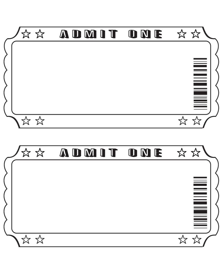 Blank Ticket … | Diy And Crafts | Ticket Template, Printable Pertaining To Blank Admission Ticket Template