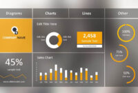 Blur Dashboard Slide For Powerpoint intended for Free Powerpoint Dashboard Template
