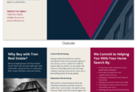 Bold Real Estate Tri Fold Brochure Template Template – Venngage with regard to Training Brochure Template