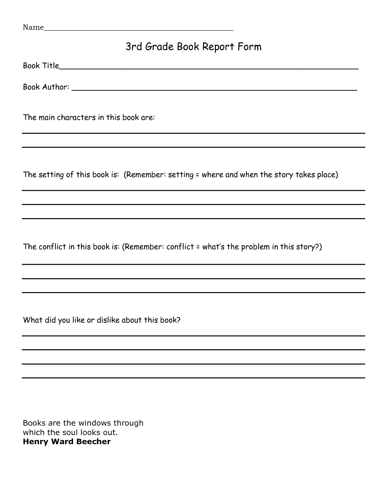 Book Report 3Rd Grade Template - Google Search | Home With Book Report Template In Spanish