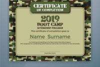 Boot Camp Internship Program Certificate Template With Boot Camp Certificate Template