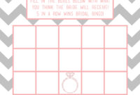 Bridal Bingo! – A Dash Of Chaos For Blank Bridal Shower Bingo Template