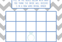 Bridal Shower Bingo Card Template Intended For Blank Bridal Shower Bingo Template