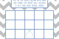 Bridal Shower Bingo Card Template with regard to Blank Bingo Card Template Microsoft Word