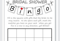 Bridal Shower Bingo Card Template With Regard To Blank Bridal Shower Bingo Template