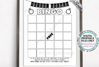 Bridal Shower Bingo Cards, Bridal Shower Bingo Printable Inside Blank Bridal Shower Bingo Template