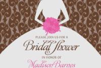 Bridal Shower Invitations. Blank Bridal Shower Invitations Inside Blank Bridal Shower Invitations Templates