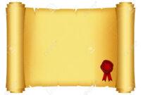 Brilliant Ideas For Certificate Scroll Template With with regard to Certificate Scroll Template