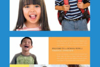 Brochure Design Template For A Primary School Or Charter with School Brochure Design Templates