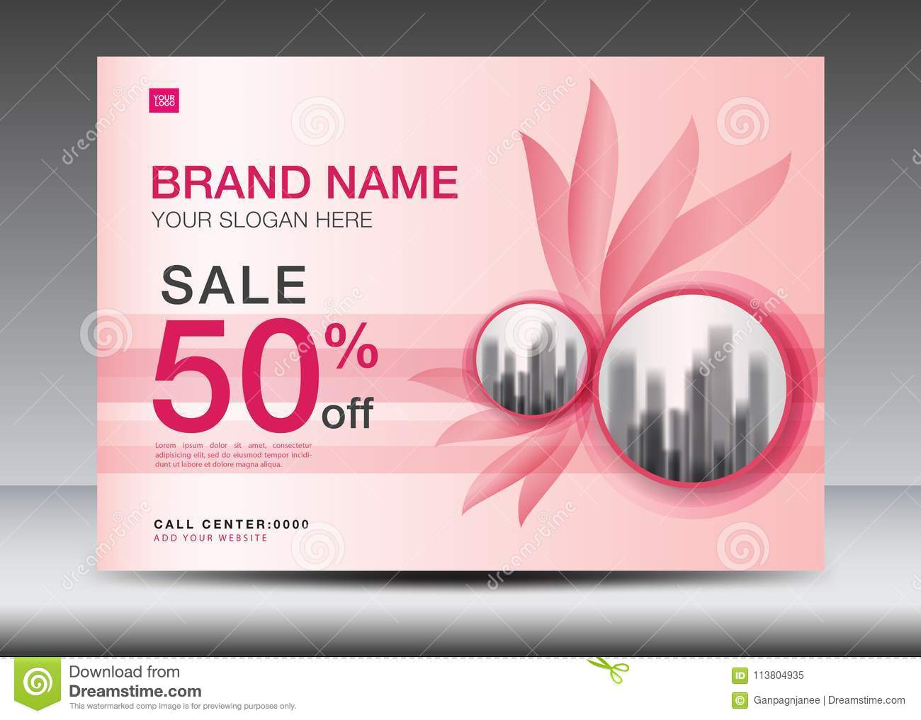 Brochure Flyer For Cosmetics, Banner Design Template Vector Inside Advertising Card Template
