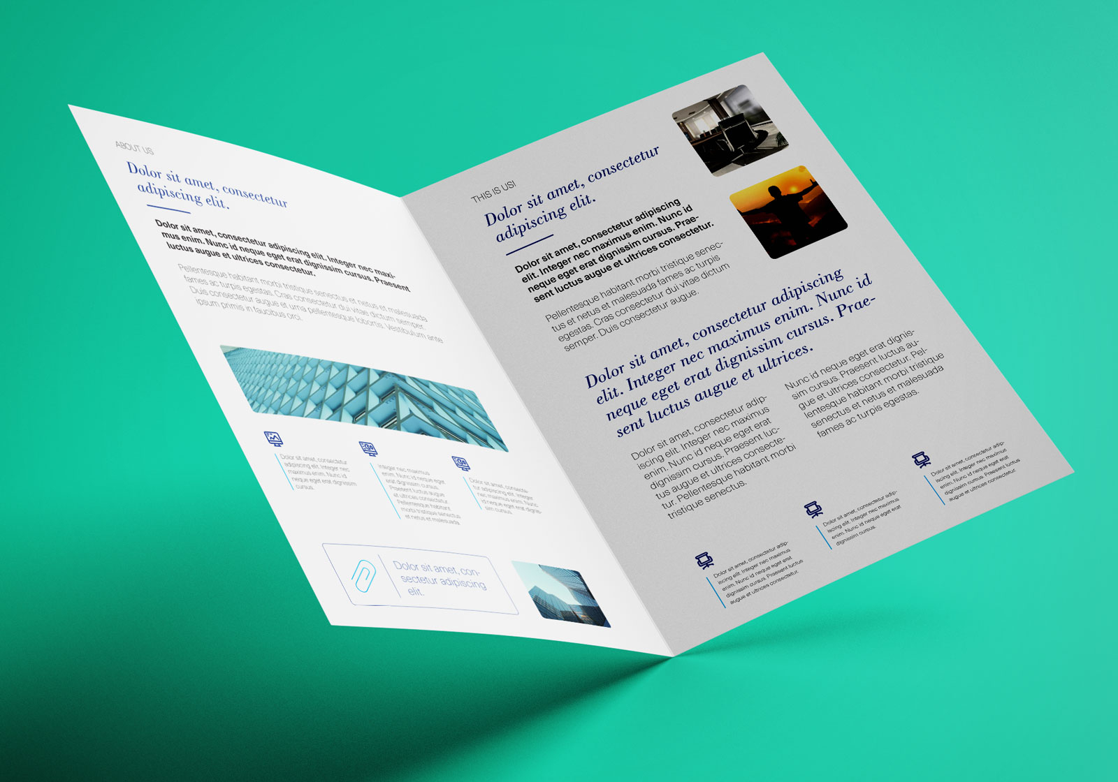 Brochure Template Archives - Atlantaauctionco With Regard To 2 Fold Brochure Template Psd