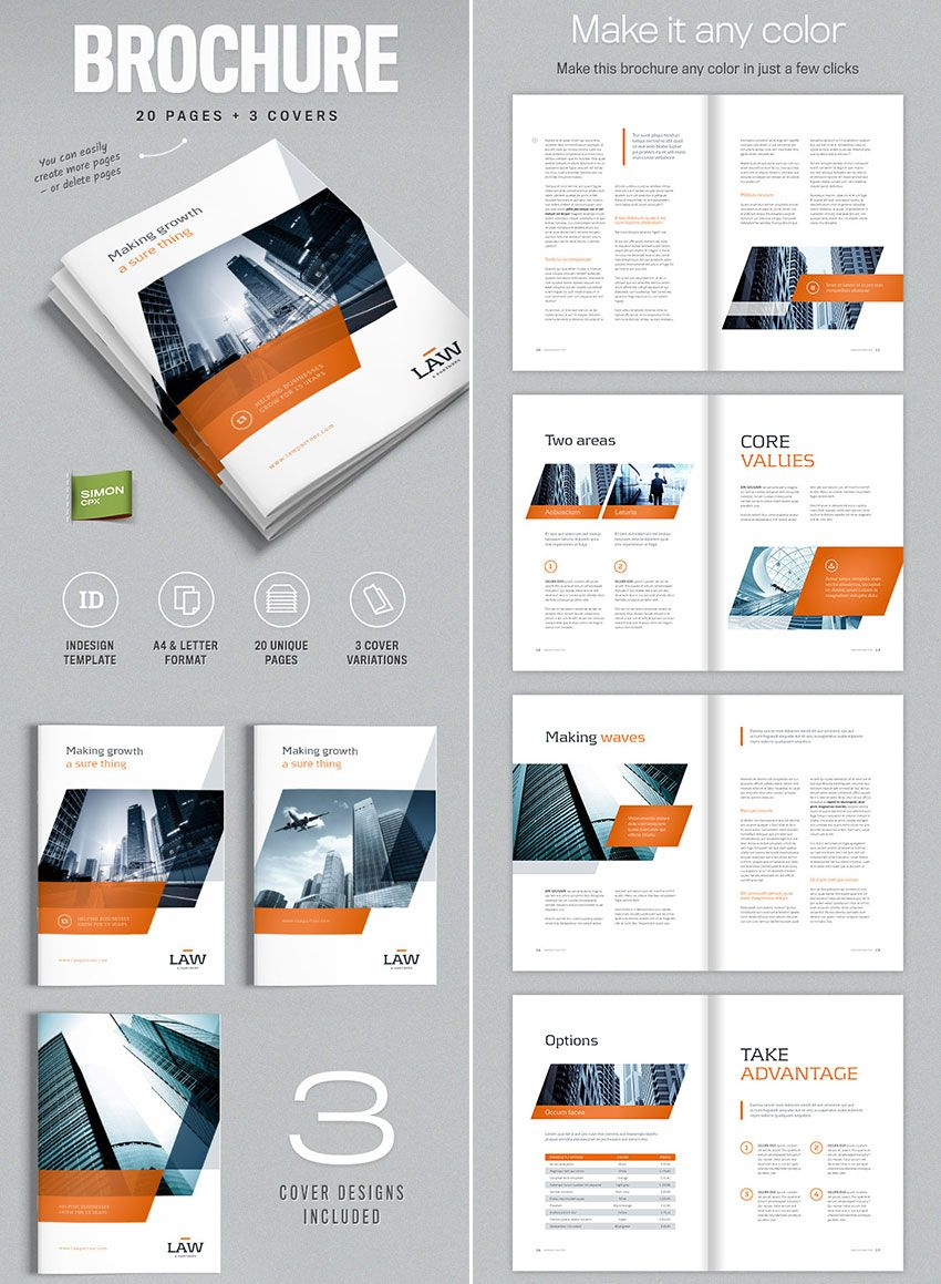 Brochure Template For Indesign - A4 And Letter | Amann For Brochure Template Indesign Free Download