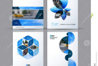 Brochure Template Layout Collection, Cover Design Annual In Half Page Brochure Template