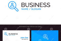Browse, Find, Networking, People, Search Blue Business Logo with regard to Networking Card Template