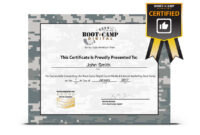 Bunch Ideas For Boot Camp Certificate Template Of Job Intended For Boot Camp Certificate Template