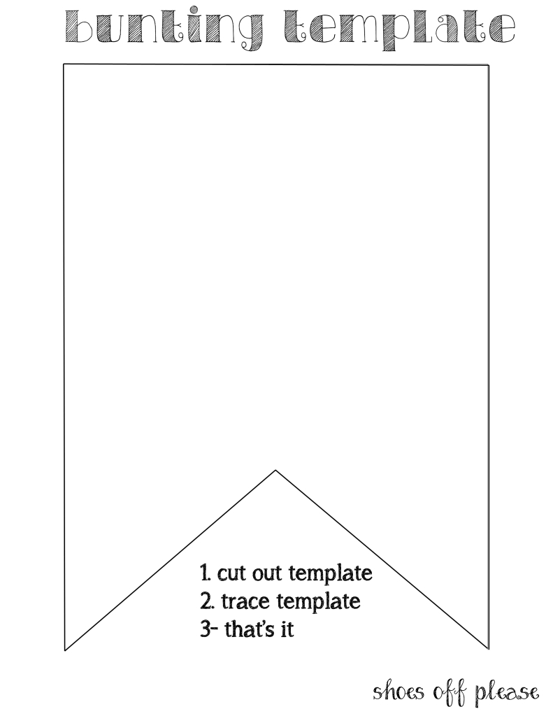 Bunting Template For Banner | Bunting Template, Pennant For Diy Birthday Banner Template