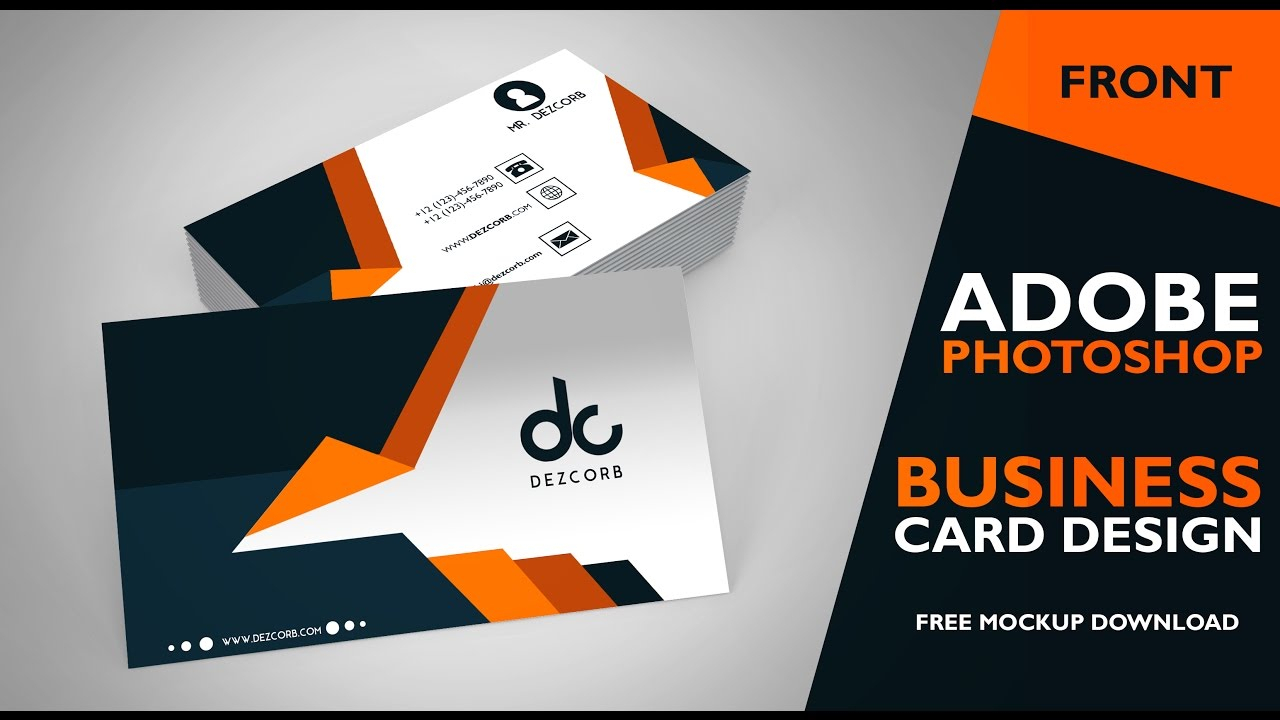 Business Card Design In Photoshop Cs6 | Front | Photoshop Tutorial Intended For Photoshop Cs6 Business Card Template
