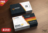 Business Card Design Templates Psd – Psd Zone regarding Calling Card Template Psd