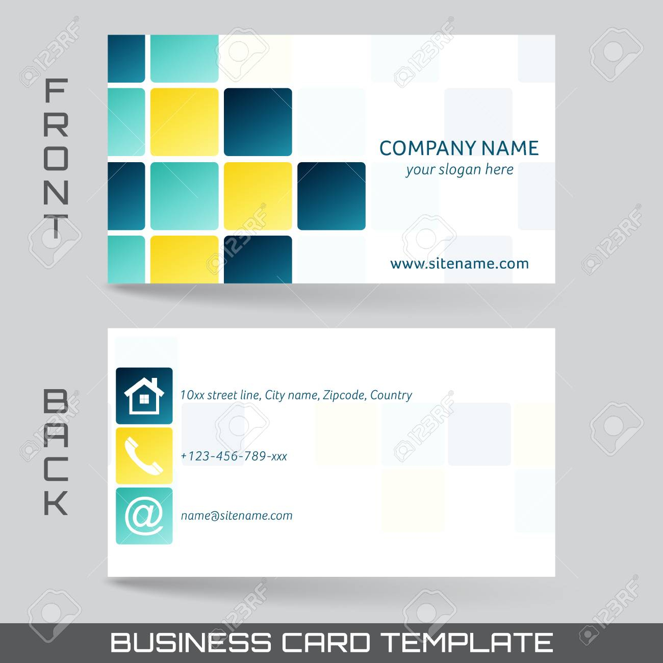 Business Card Front And Back Microsoft Word Template With Front And Back Business Card Template Word