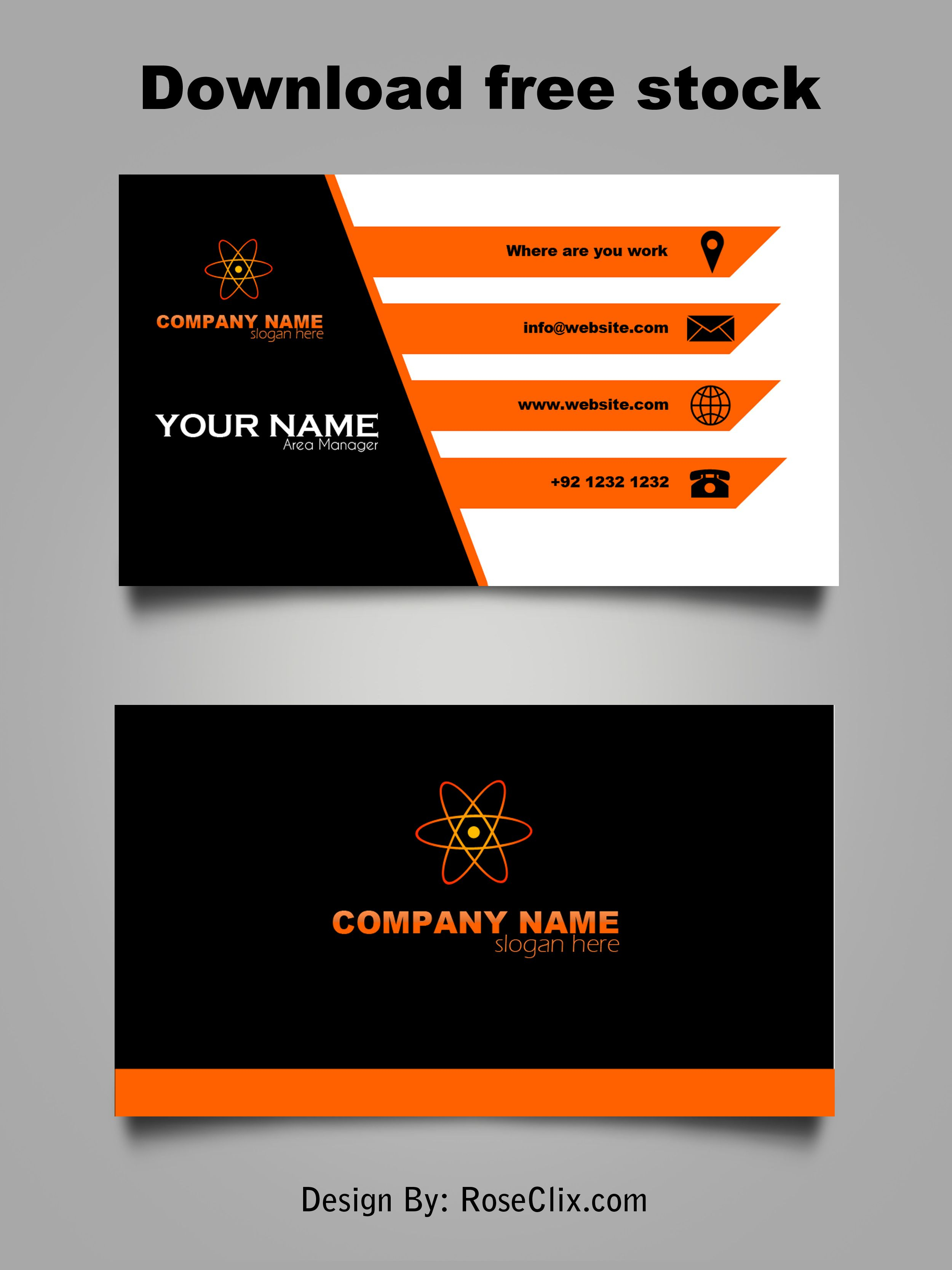 Business Card Template Free Downloads Psd Fils. | Business In Templates For Visiting Cards Free Downloads