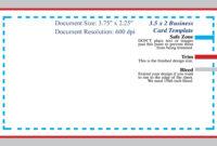 Business Card Template In Photoshop regarding Business Card Template Size Photoshop