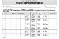 Business Progress Report Template – Caquetapositivo in Educational Progress Report Template