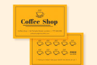 Cafe Loyalty Card   Business Cards   Loyalty Card Design with Business Punch Card Template Free