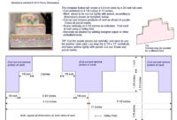 """Cake Card Template – Size A2 (4.25"""" X 5.5"""") 