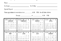 Calendar Appointment Cards with regard to Chiropractic Travel Card Template
