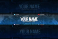 Call Of Duty Youtube Banner Template – Free Download (Psd) pertaining to Youtube Banners Template