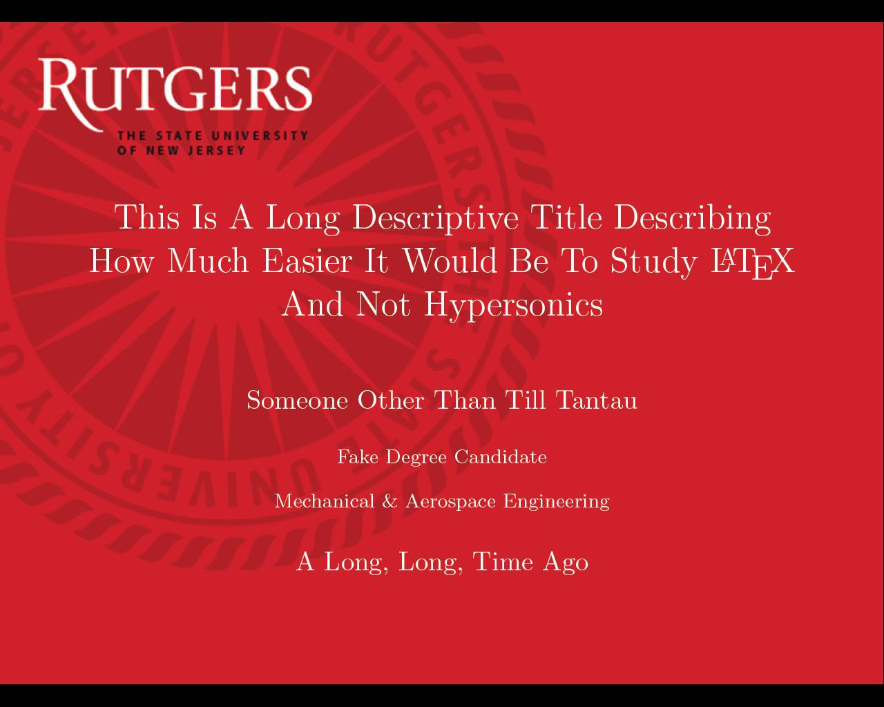Can I Specify Title Page Customization In A Template Instead For Rutgers Powerpoint Template