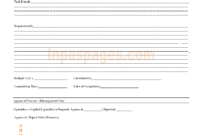 Capital Expenditure Approval Form Format in Capital Expenditure Report Template