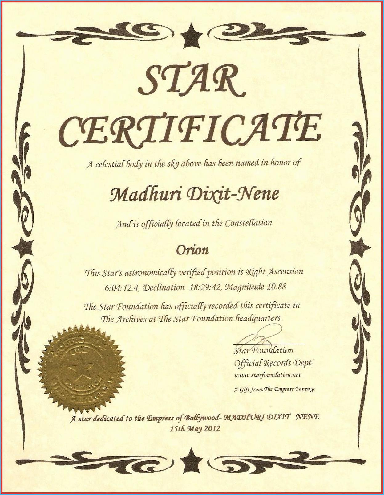 Captivating Star Naming Certificate Template To Make Free Intended For Star Naming Certificate Template