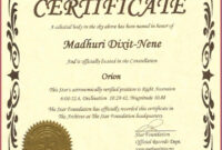 Captivating Star Naming Certificate Template To Make Free throughout Star Certificate Templates Free