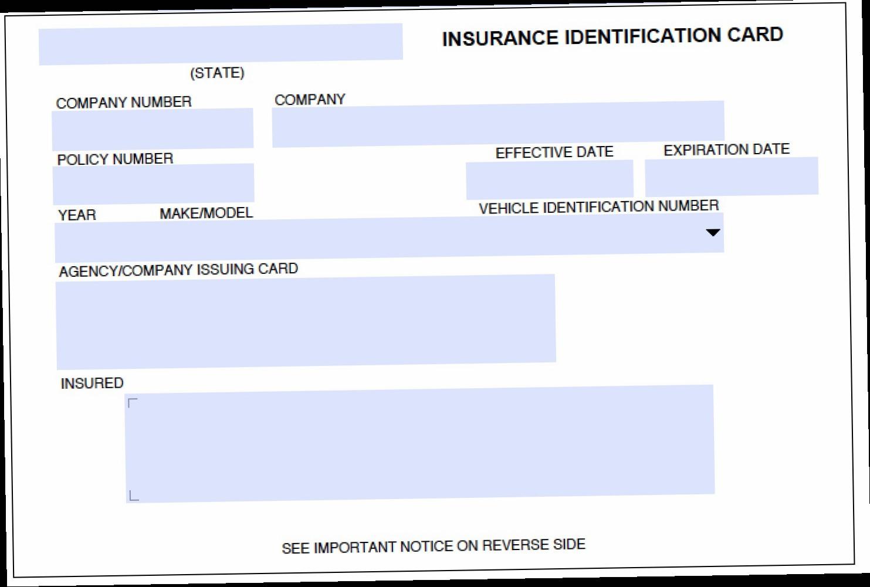 Fake Car Insurance Card Template Cumed Org Cumed Org
