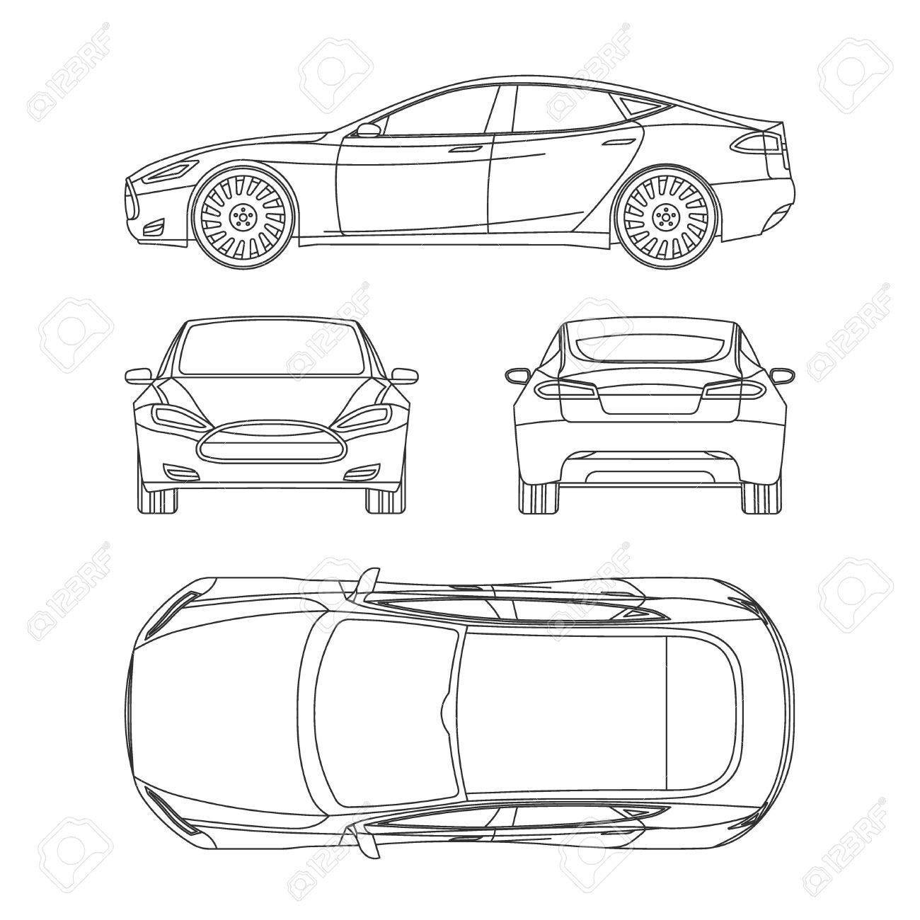 Car Line Draw Insurance, Rent Damage, Condition Report Form Blueprint Throughout Car Damage Report Template
