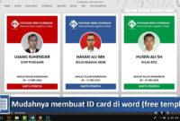Cara Membuat Id Card Dengan Word (Free Template inside Id Card Template Word Free