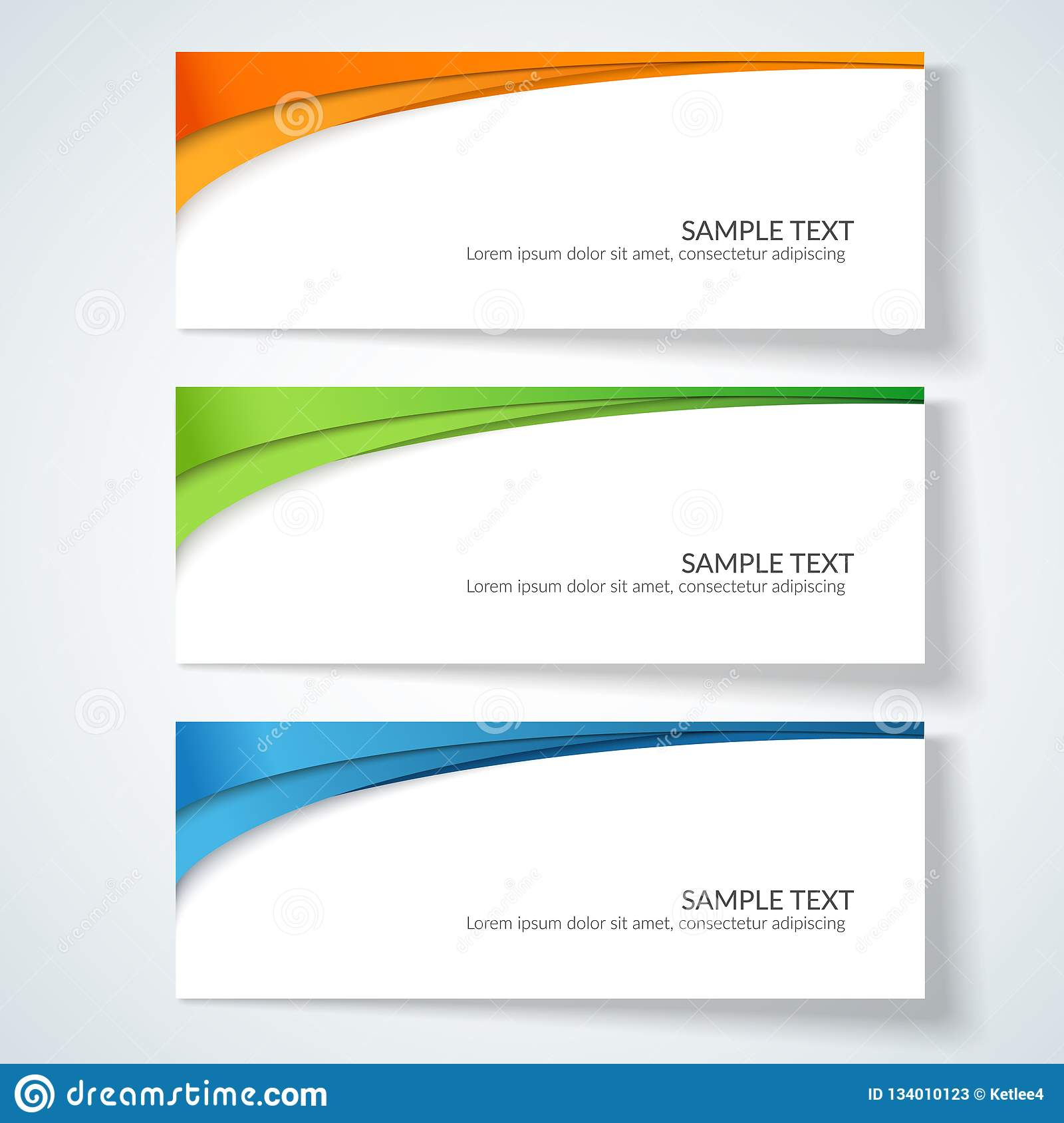 Card With Abstract Wavy Lines Orange Blue Green Stripes With Advertising Cards Templates
