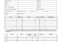 Cast And Crew Call Sheets (Film And Tv) with Blank Call Sheet Template