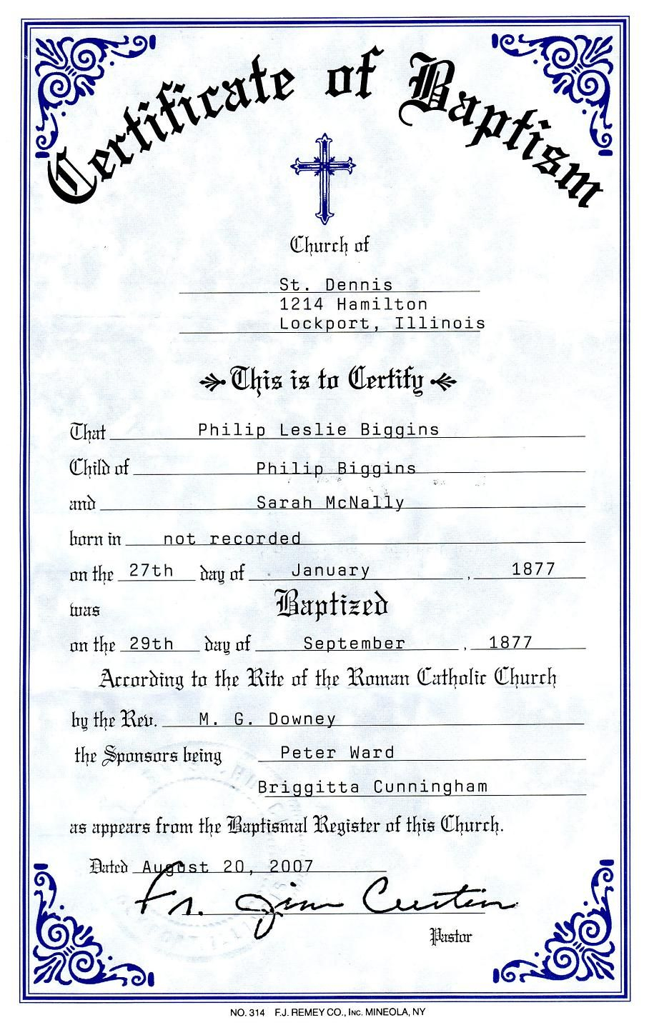 Catholic Baptism Certificate - Yahoo Image Search Results Pertaining To Roman Catholic Baptism Certificate Template