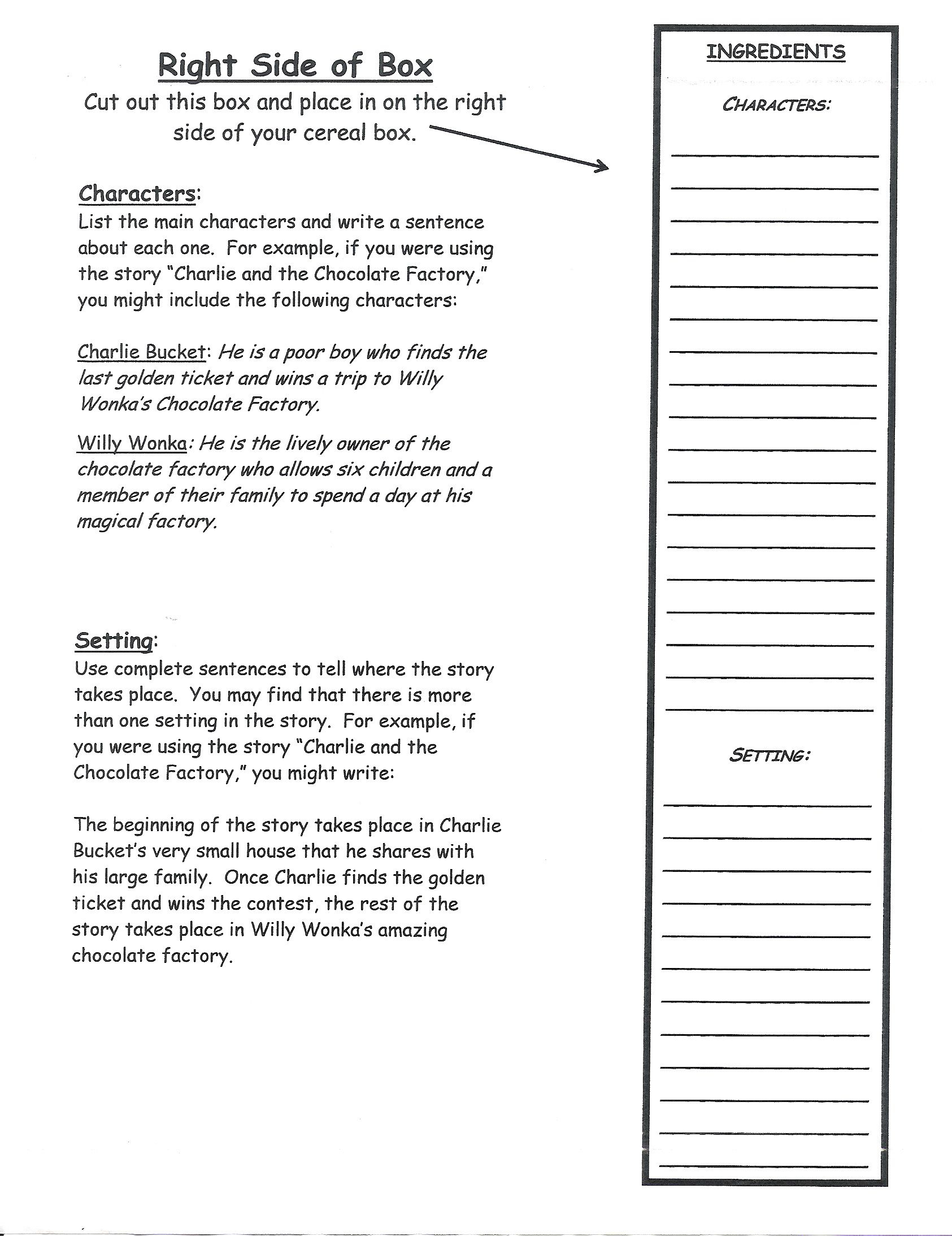 Cereal Box Book Report | Book Report Templates, Book Report Regarding Cereal Box Book Report Template