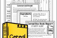 Cereal Box Book Report Kit | Shelly Rees Teaching Resources intended for Cereal Box Book Report Template