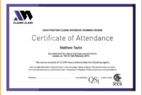 Certificate Attendance Templatec Certification Letter pertaining to Attendance Certificate Template Word